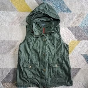 Market and Spruce Hooded Military Utility Vest XXL